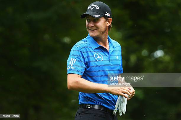 Emiliano Grillo of Argentina looks on during the proam event prior to the Deutsche Bank Championship at TPC Boston on September 1 2016 in Norton...
