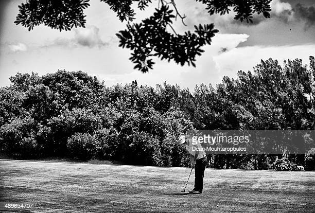 Emiliano Grillo of Argentina putts on the 6th green during Day 3 of the Africa Open at East London Golf Club on February 15, 2014 in East London,...