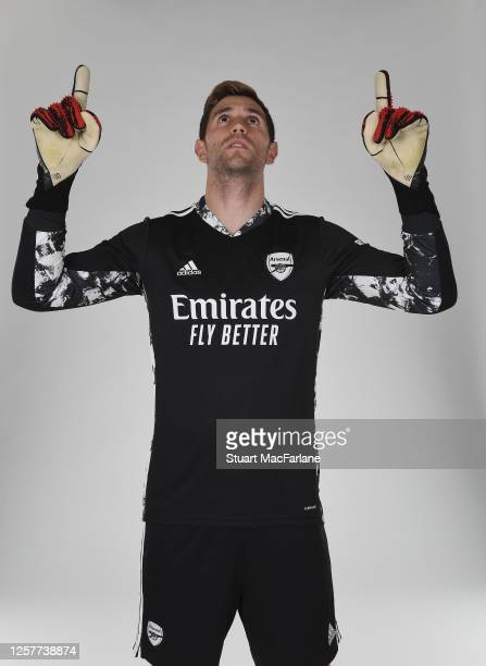 Emiliano Martinez of Arsenal at London Colney on March 4, 2020 in St Albans, England.