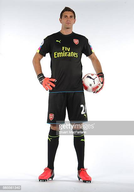 Emiliano Martinez of Arsenal at the 1st team photocall at London Colney on August 3 2016 in St Albans England