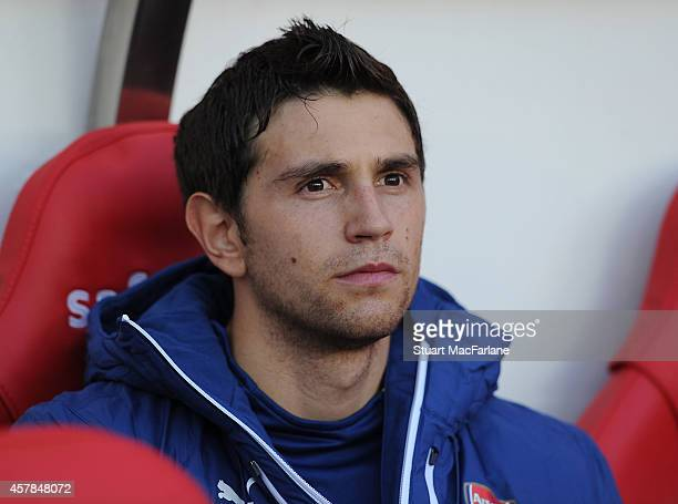 Emiliano Martinez of Arsenal before the Barclays Premier League match between Sunderland and Arsenal at Stadium of Light on October 25 2014 in...