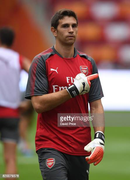 Emiliano Martinez of Arsenal during an Arsenal Training Session at the Birds Nest on July 21 2017 in Beijing China
