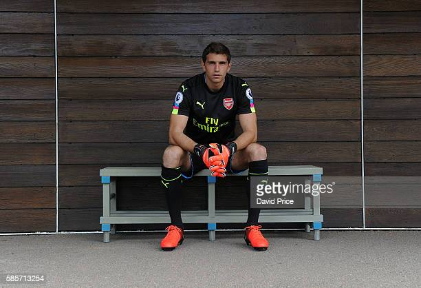 Emiliano Martinez of Arsenal during the Arsenal 1st team photocall at London Colney on August 3 2016 in St Albans England