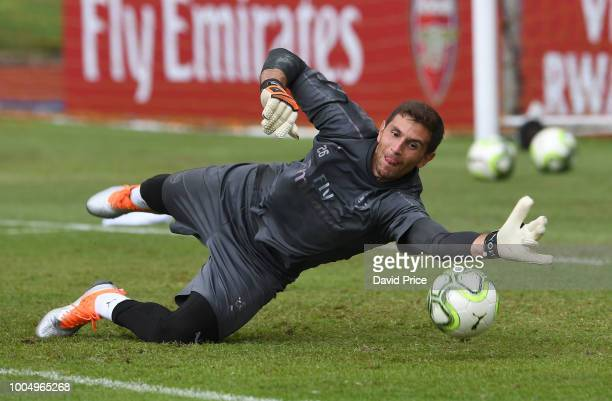 Emiliano Martinez of Arsenal during the Arsenal Training Session at Singapore American School on July 25 2018 in Singapore