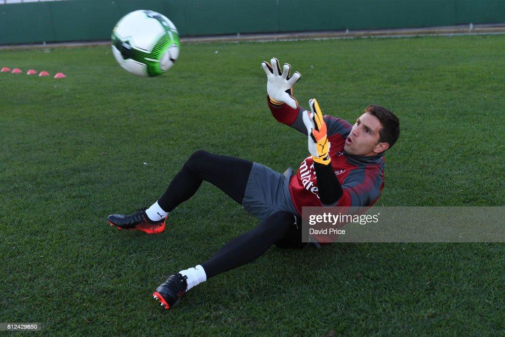 Emiliano Martinez of Arsenal during the Arsenal Training Session at Koragah Oval on July 11, 2017 in Sydney, Australia.