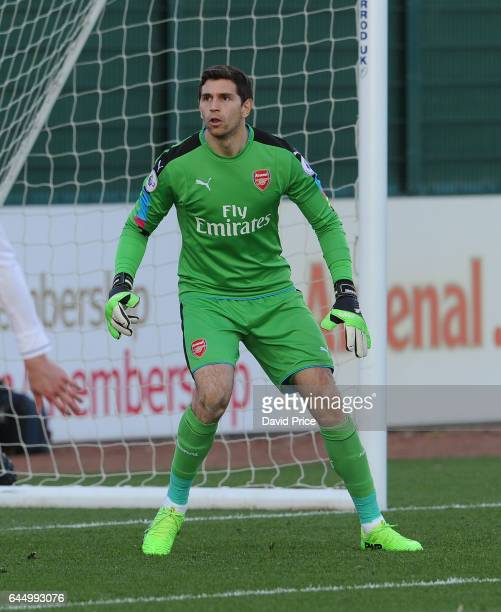 Emiliano Martinez of Arsenal during the match between Arsenal U23 and Chelsea U23 at London Colney on February 24 2017 in St Albans England