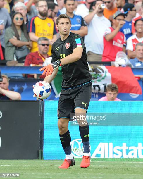 Emiliano Martinez of Arsenal during the MLS AllStar Game between the MLS AllStars and Arsenal at the Avaya Stadium on July 28 2016 in San Jose...