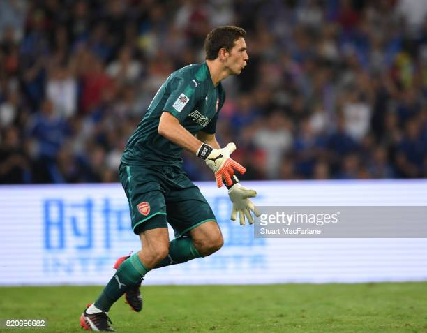 Emiliano Martinez of Arsenal during the preseason friendly between Arsenal and Chelsea at the Birds Nest on July 22 2017 in Beijing
