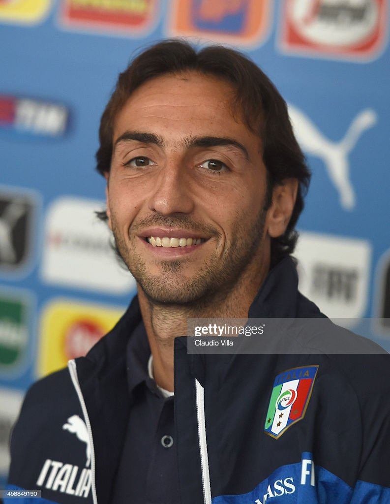 Emiliano Moretti during Italy Press Conference at Coverciano on November 12, 2014 in Florence, Italy.