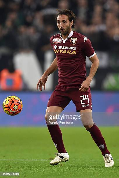 Emiliano Moretti of Torino FC in action during the Serie A match between Juventus FC and Torino FC at Juventus Arena on October 31 2015 in Turin Italy