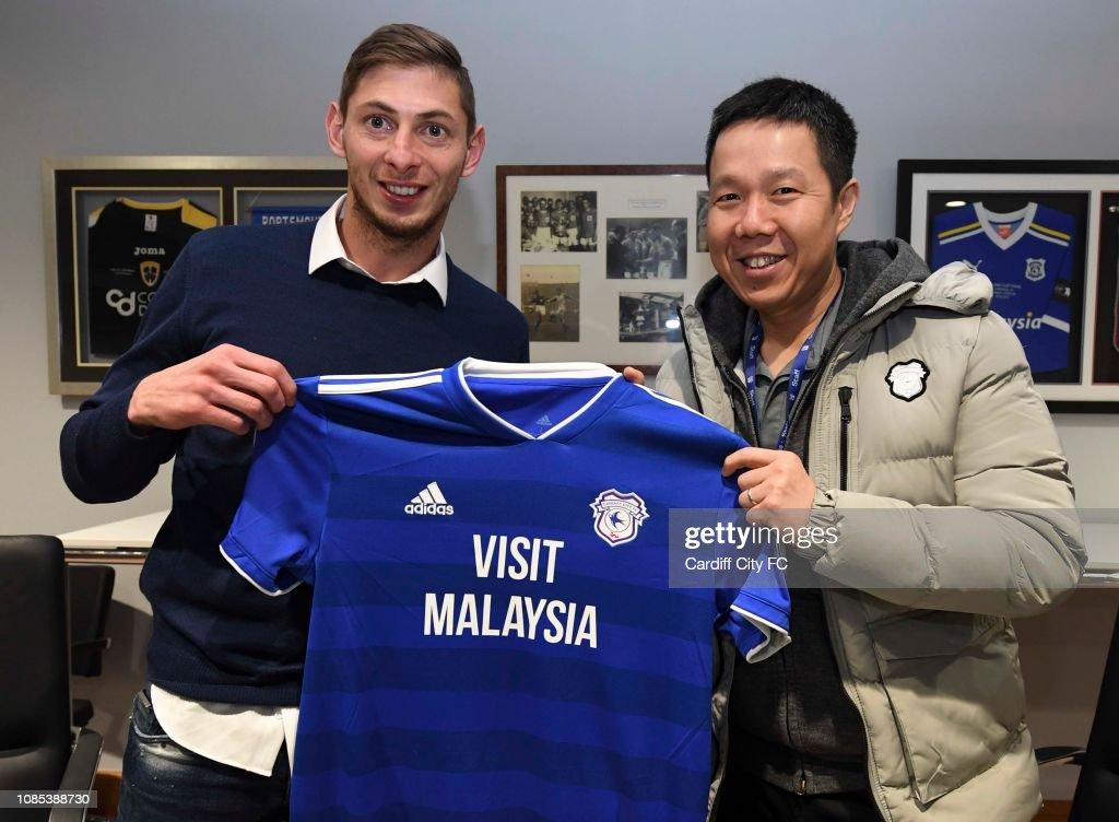 Cardiff City Unveil New Signing Emiliano Sala : News Photo
