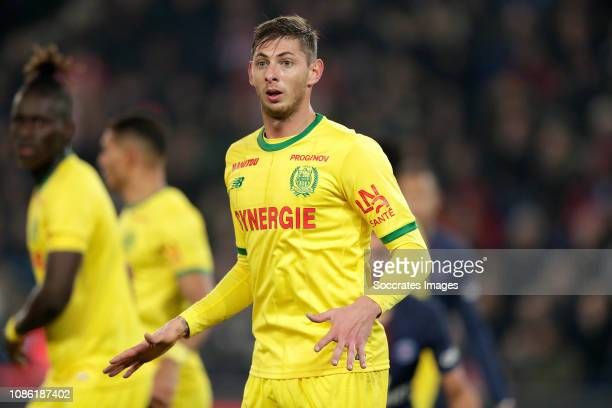 Emiliano Sala of FC Nantes during the French League 1 match between Paris Saint Germain v Nantes at the Parc des Princes on December 22 2018 in Paris...