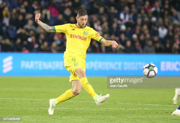 Emiliano Sala of FC Nantes during the french Ligue 1 match between Paris SaintGermain and FC Nantes at Parc des Princes stadium on December 22 2018...