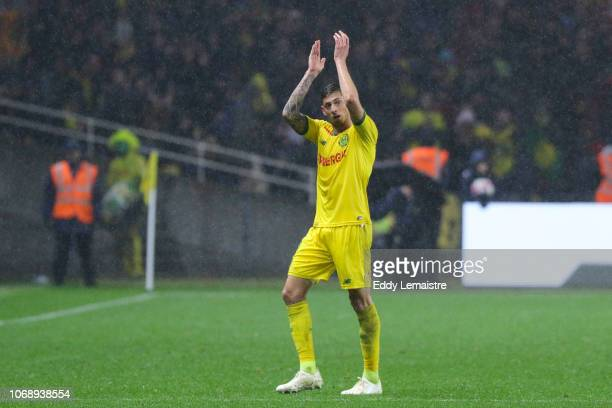Emiliano Sala of Nantes during the French Ligue 1 match between FC Nantes and Olympique de Marseille on December 5 2018 in Nantes France