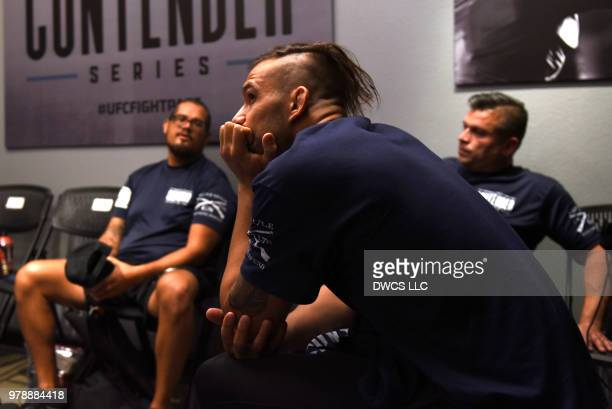 Emiliano Sordi of Argentina relaxes prior to his light heavyweight bout against Ryan Spann during Dana White's Tuesday Night Contender Series at the...