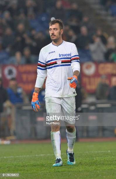 Emiliano Viviano during the Italian Serie A football match between AS Roma and Sampdoria at the Olympic Stadium in Rome on janaury 28 2018