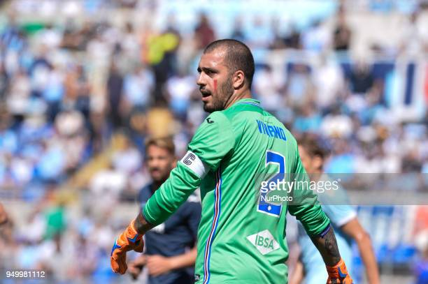 Emiliano Viviano during the Italian Serie A football match between SS Lazio and US Sampdoria at the Olympic Stadium in Rome on april 22 2018