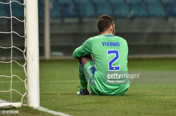 Emiliano Viviano goalkeeper of Sampdoria disappointment afetr goal 11 of Afriyire Acquah during the serie A match between UC Sampdoria and Torino FC...