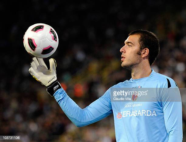 Emiliano Viviano of Bologna FC during the Serie A match between Bologna and Inter at Stadio Renato Dall'Ara on August 30 2010 in Bologna Italy
