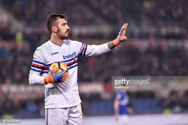 Emiliano Viviano of Sampdoria during the Serie A match between Roma and Sampdoria at Olympic Stadium Roma Italy on 28 January 2018