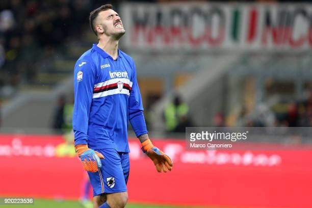 Emiliano Viviano of UC Sampdoria despair during the Serie A football match between Ac Milan and Uc Sampdoria Ac Milan wins 10 over Uc Sampdoria