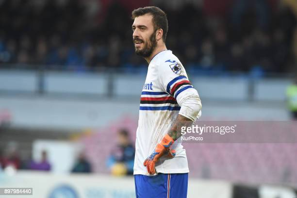 Emiliano Viviano of UC Sampdoria during the Serie A TIM match between SSC Napoli and UC Sampdoria at Stadio San Paolo Naples Italy on 23 December 2017