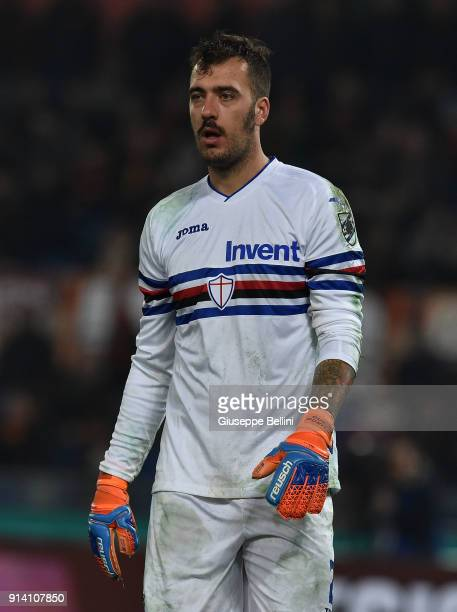 Emiliano Viviano of UC Sampdoria in action during the serie A match between AS Roma and UC Sampdoria at Stadio Olimpico on January 28 2018 in Rome...
