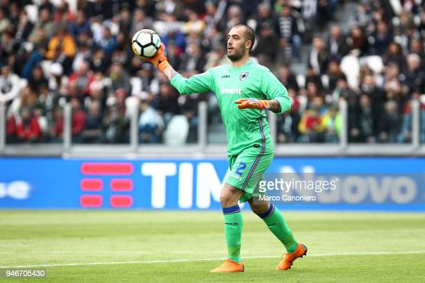 Emiliano Viviano of UC Sampdoria in action during the Serie A football match between Juventus Fc and Uc Sampdoria Juventus Fc wins 30 over Uc...
