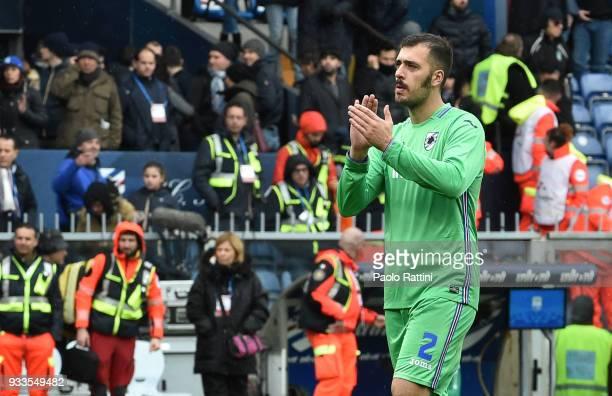 Emiliano Viviano Sampdoria's goalkeeper at the end of the serie A match between UC Sampdoria and FC Internazionale at Stadio Luigi Ferraris on March...