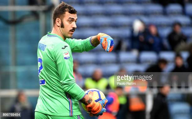 Emiliano Viviano Sampdoria's goalkeeper during the serie A match between UC Sampdoria and Spal at Stadio Luigi Ferraris on December 30 2017 in Genoa...