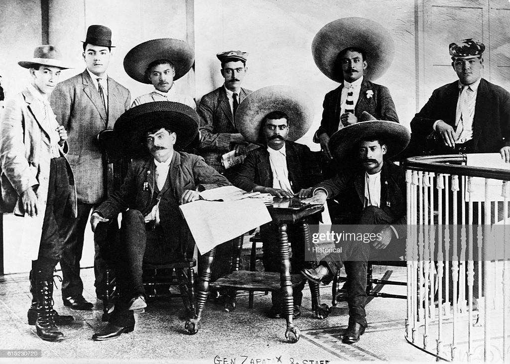 Emiliano Zapata and His Staff : News Photo
