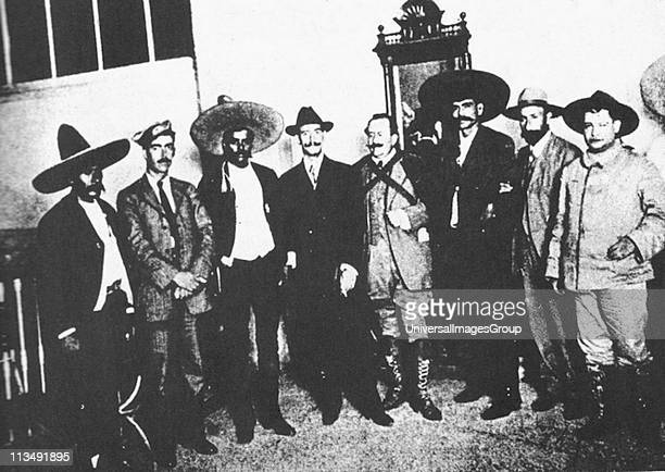Emiliano Zapata Mexican Revolutionary leader third from left