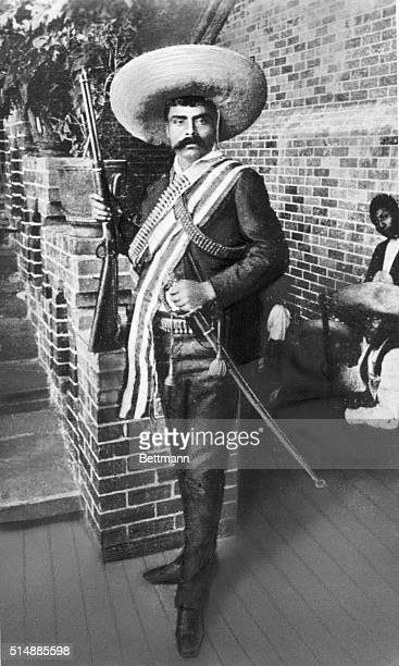 Emiliano Zapata , Mexican revolutionist. Undated photograph.