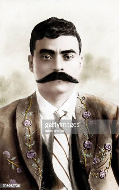 Emiliano Zapata Mexican revolutionnary Ca 1915 Coloured photograph