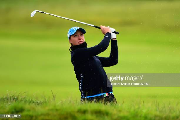 Emilie Alba Paltrinieri of Italy hits an approach shot during Round 3 of Matchplay on Day Four of The Women's Amateur Championship at The West...
