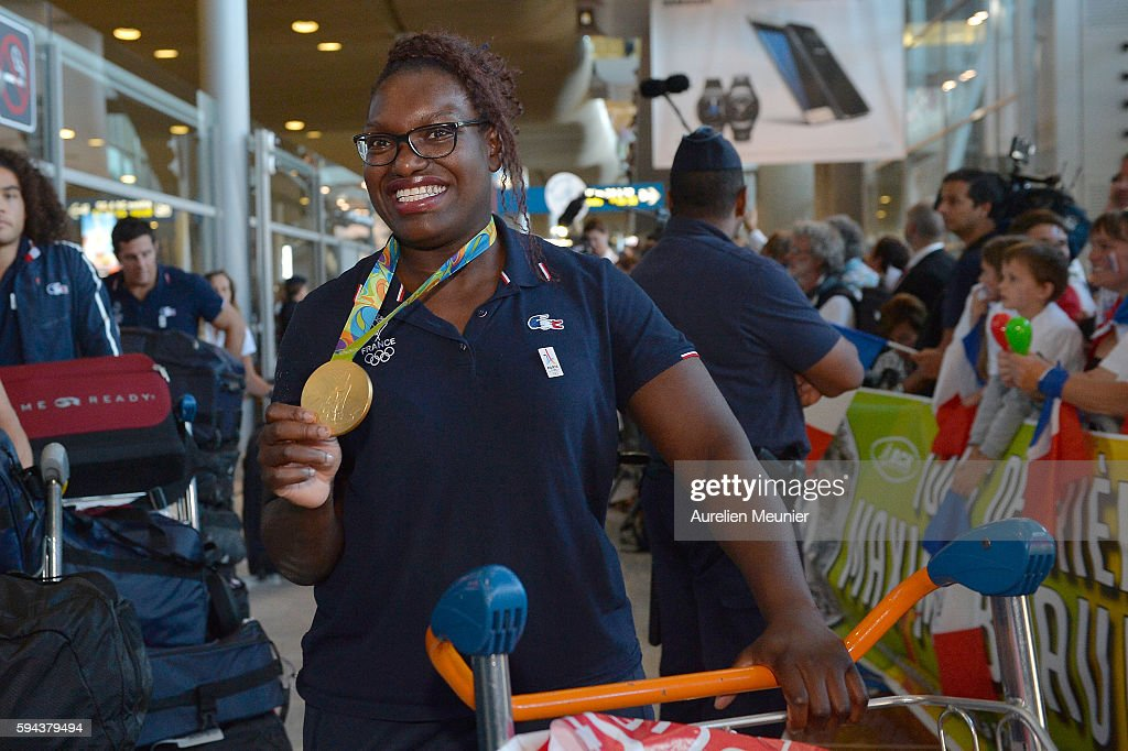 France Olympic Team Arrives At Roissy Charles de Gaulle Airport In Paris : News Photo