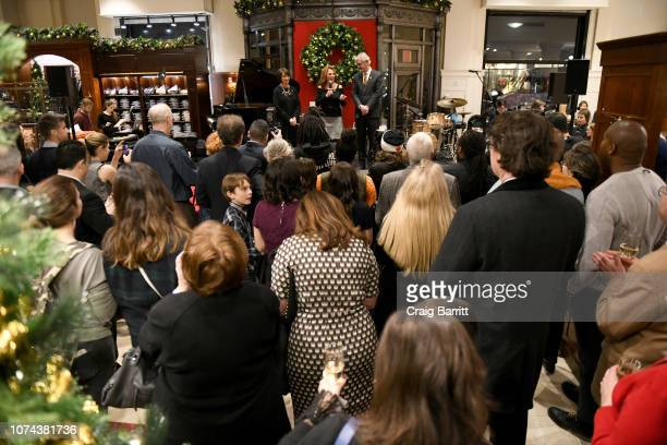 Emilie Antonetti Marlo Thomas and Claudio Del Vecchio speak onstage during the Brooks Brothers And St Jude Children's Research Hospital Annual...