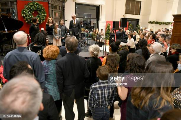 Emilie Antonetti Marlo Thomas Charlie Kennan and Claudio Del Vecchio speak onstage during the Brooks Brothers And St Jude Children's Research...