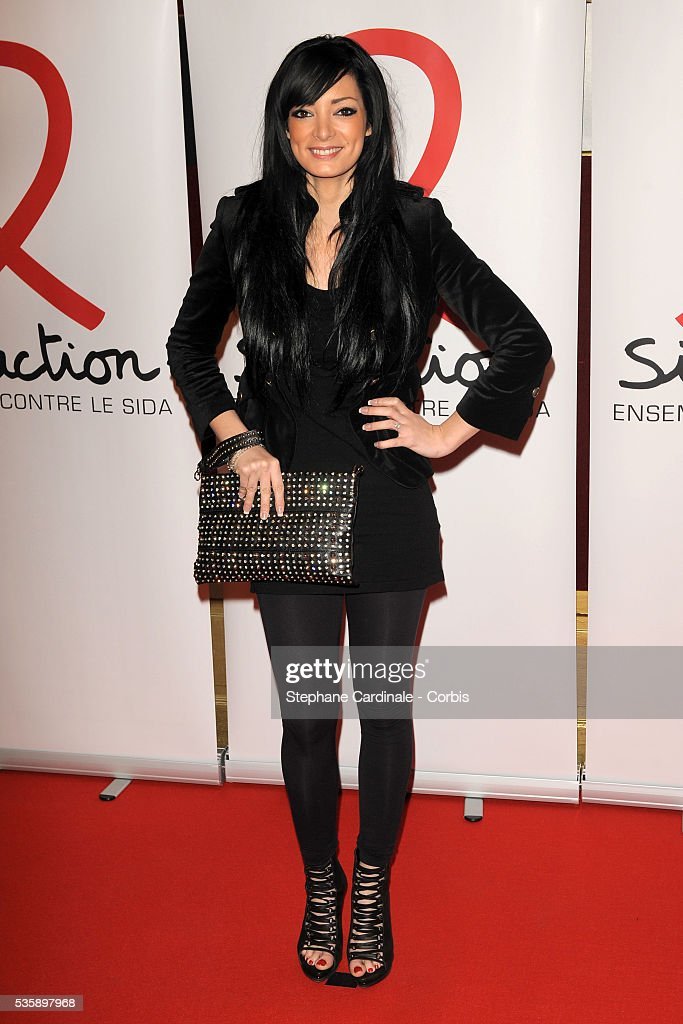 Emilie (Secret Story) attends 'Sidaction 2010' press conference at Casino de Paris.