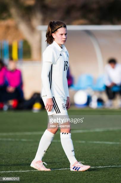 Emilie Bernhardt of Germany looks on during the U17 girl's international friendly match between Germany and France on January 20 2018 in Salou Spain
