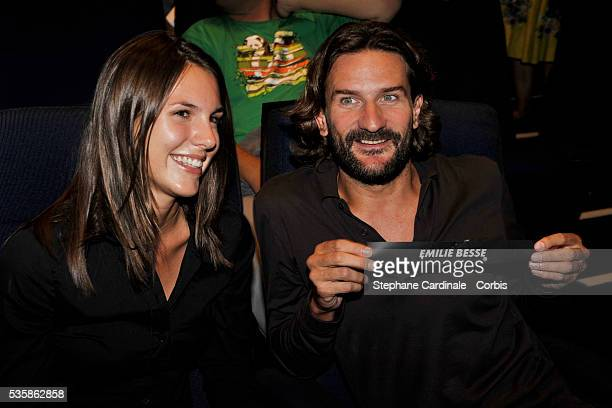 Emilie Besse and Frederic Beigbeder attend the Canal press conference