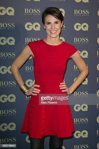 Emilie Besse attends the 'GQ Men of the Year 2014' photocall at Musee d'Orsay on November 19 2014 in Paris France