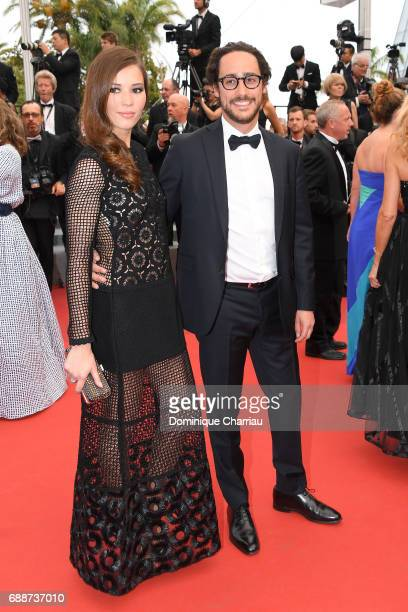 Emilie Broussouloux and Thomas Hollande attend the 'Amant Double ' Red Carpet Arrivals during the 70th annual Cannes Film Festival at Palais des...