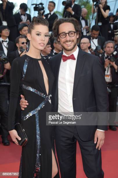 Emilie Broussouloux and Thomas Hollande attend the Closing Ceremony of the 70th annual Cannes Film Festival at Palais des Festivals on May 28 2017 in...