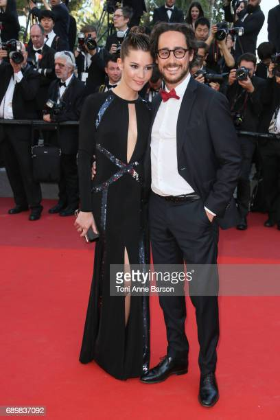 Emilie Broussouloux and Thomas Hollande attend the Closing Ceremony during the 70th annual Cannes Film Festival at Palais des Festivals on May 28...