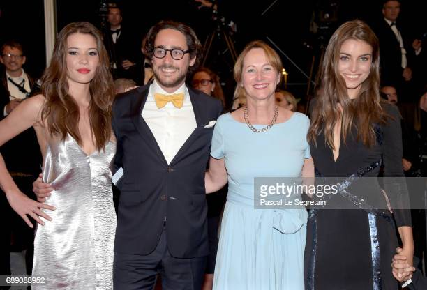 Emilie Broussouloux Thomas Hollande Segolene Royal and a guest attend the 'You Were Never Really Here' screening during the 70th annual Cannes Film...