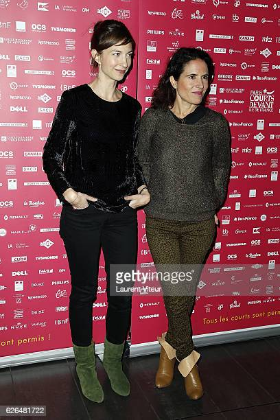 "Emilie Caen and Mazarine Pingeot attend ""Courts Devants"" Paris Festival at Mk2 Bibliotheque on November 29, 2016 in Paris, France."