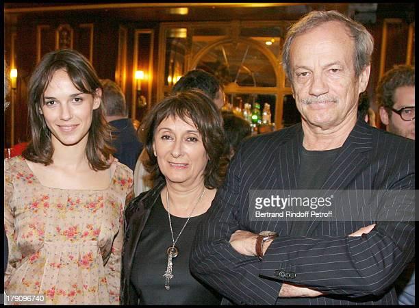 Emilie Chesnais and parents Patrick Chesnais and Josiane Stoleru at Clotilde Courau Star Of 'Faisons Un Reve' Celebrates Her 40th Birthday