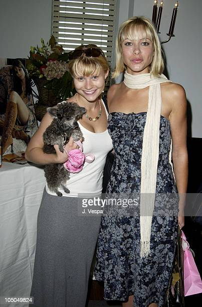 Emilie de Ravin and Jennifer Sky during The Cabana Beauty Buffet Day 1 at The Chateau Marmont Hotel in Los Angeles California United States