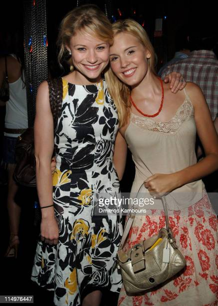 Emilie de Ravin and Maggie Grace during Vonage VPhone Internet Phone Launch Party in New York City at Aer Lounge in New York City New York United...